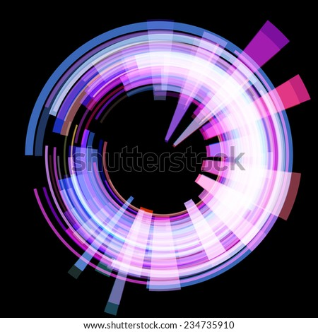 Abstract radioactive circle. Vector. - stock vector