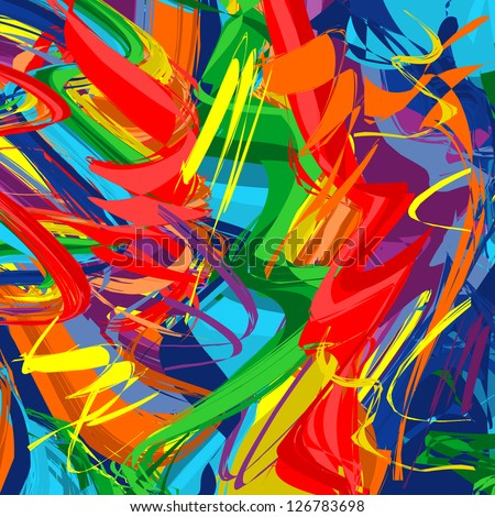 Abstract raibow colorful vector line background - stock vector