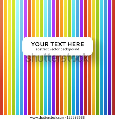 Abstract rainbow background. Vector illustration for your education presentation. Colorful picture of gradient vertical strips. - stock vector