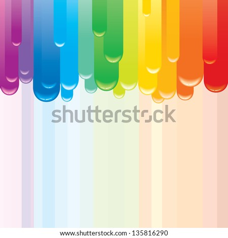 Abstract Rainbow Background. Vector Image - stock vector
