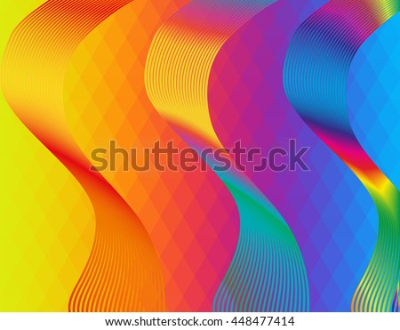 Abstract rainbow background with multicolored waves