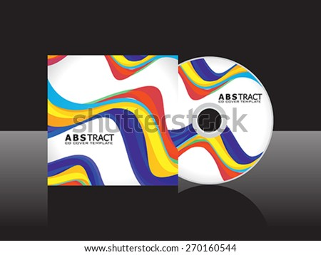 abstract rainbow cd cover template vector illustration - stock vector