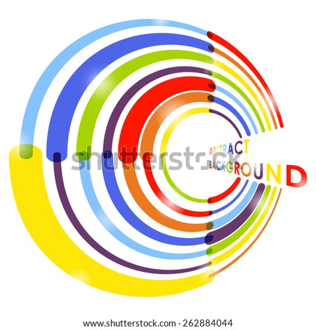 Abstract rainbow circle background. Vector illustration
