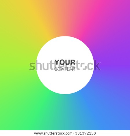 Abstract rainbow colors background with white circle text box frame vector stock eps 10 illustration - stock vector