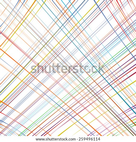 Abstract rainbow curved stripes color diagonal line art background - stock vector