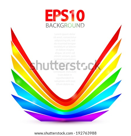 Abstract rainbow element  for your business presentation. Vector illustration - stock vector