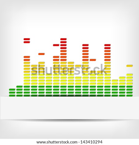 Abstract rainbow equalizer background - vector illustration - stock vector