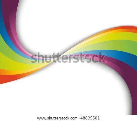 Abstract rainbow fresh wave. Vector illustration - stock vector
