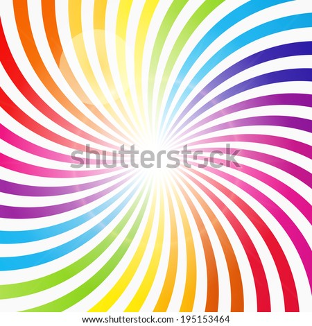 Abstract Rainbow Hypnotic Background Vector Illustration