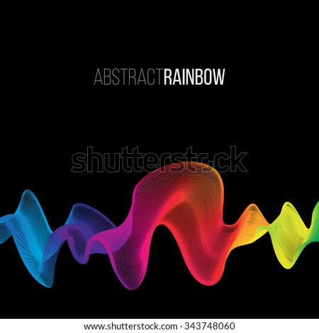 Abstract Rainbow Lines Design. Moving Colorful Lines Abstract Background for Posters / Flyers / Covers / Presentations/ Business Cards. Vector Illustration. - stock vector