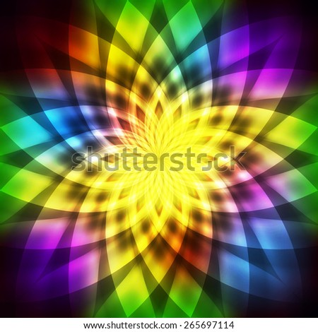 Abstract rainbow neon vector background