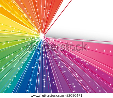 Abstract rainbow strips - stock vector