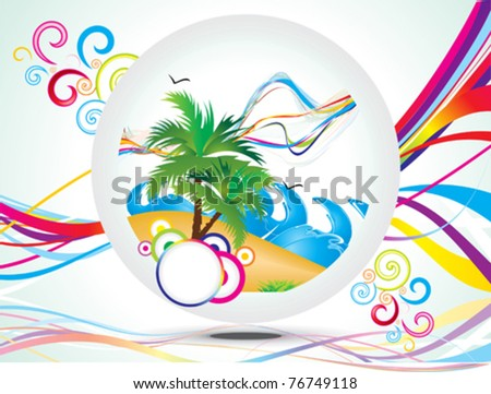 abstract rainbow summer holiday background vector illustration - stock vector