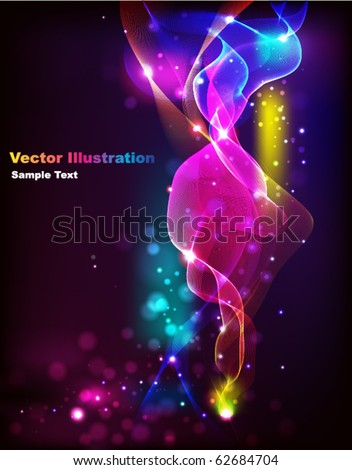 Abstract Rainbow Wave - stock vector