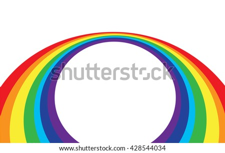 abstract rainbow wave on a white background