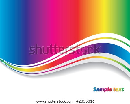 Abstract rainbow with wave
