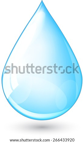 Abstract raindrop illustration - stock vector