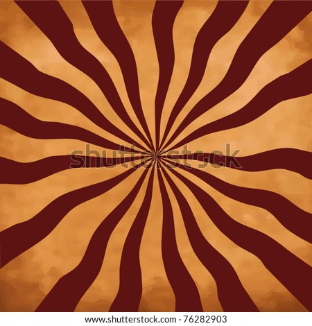 Abstract rays on a vintage background