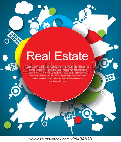 Abstract real estate vector background - stock vector