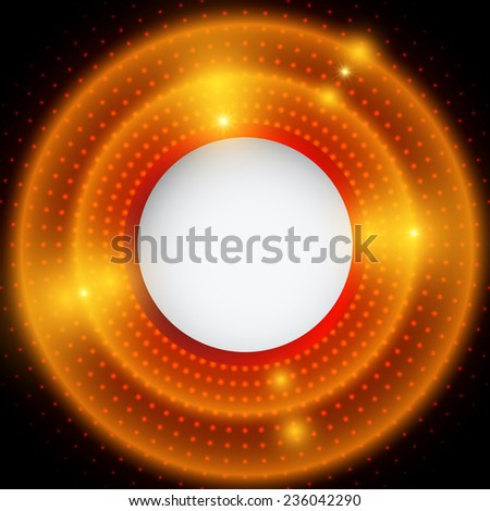 Abstract red and black background with circles