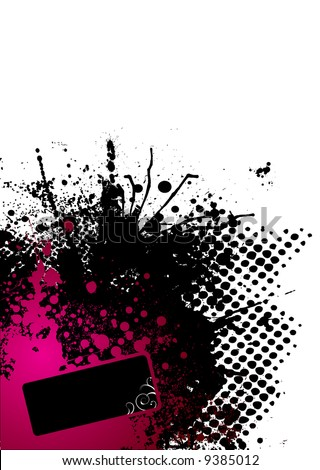 Abstract red and black corner design with copy space - stock vector