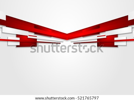 Abstract red and white motion technology design. Vector corporate background