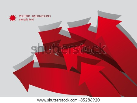 Abstract Red Arrow Bacground - stock vector