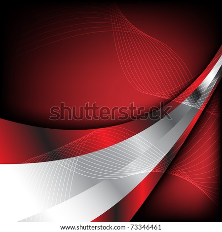 Abstract red background. Clip-art - stock vector