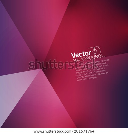 abstract red background surround a triangular - stock vector