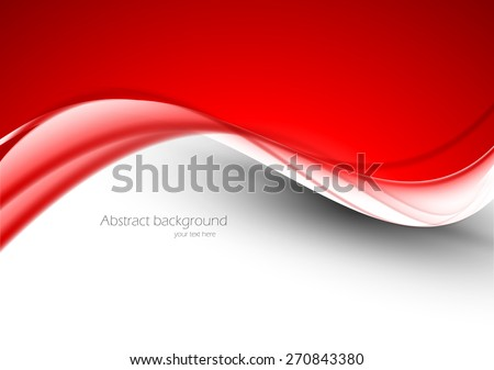 Abstract red background with bright design vector illustration - stock vector