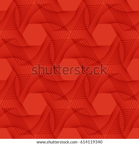 Abstract red background with geometric pattern. Vector illustration