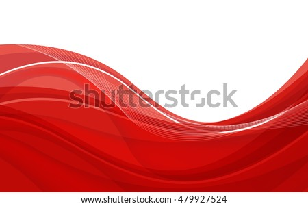Abstract red background with wave. Vector illustration. Clip-art