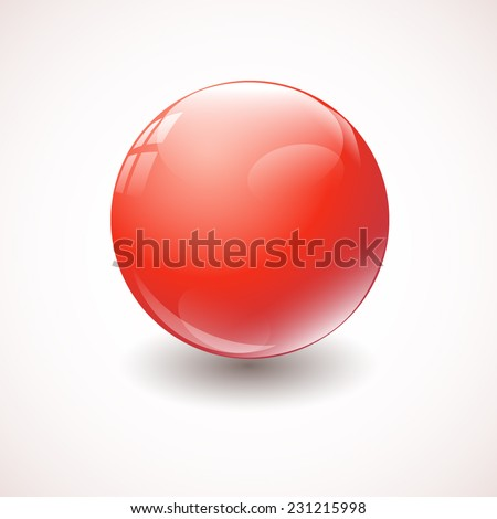 Abstract red ball