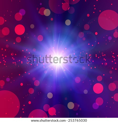 Abstract red bokeh background. Vector illustration
