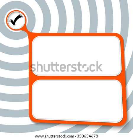 Abstract red box for your text and check box - stock vector