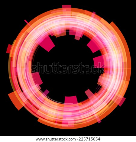 Abstract red circle. Vector. - stock vector