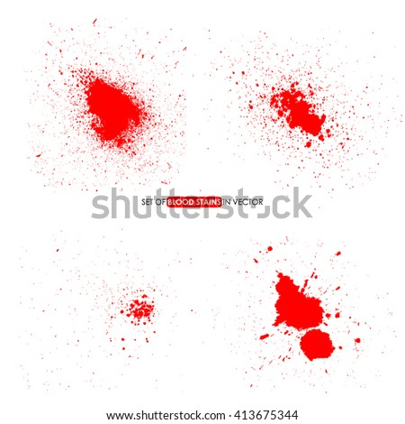 Abstract red color splatter on white background. Blood stains. Splatter Texture . Splatter Background . Splatter Effect . Splatter Overlay Texture . Splatter Vector Texture. Design elements in vector. - stock vector