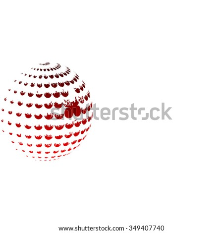 Abstract red dots, white background for your text and logo. Stock vector illustration