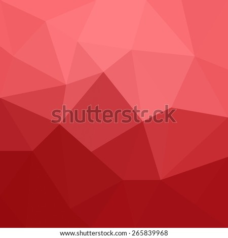 Abstract red geometrical background - Vector - stock vector
