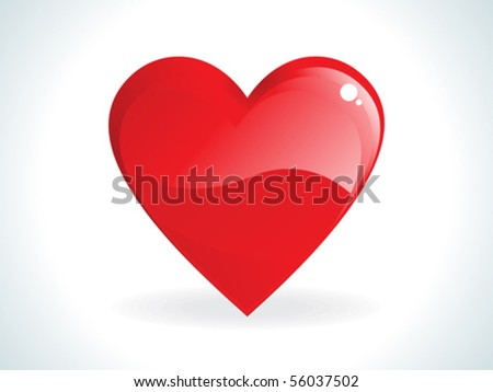 abstract red gossy heart vector illustration - stock vector
