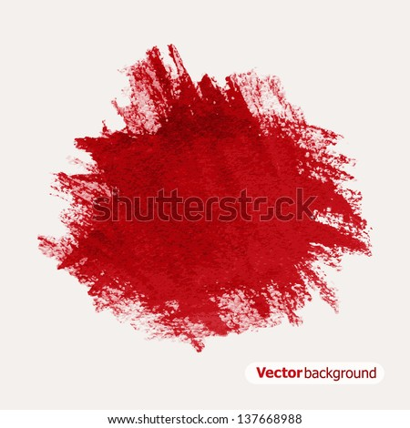 Abstract red grunge background. Vector illustration - stock vector