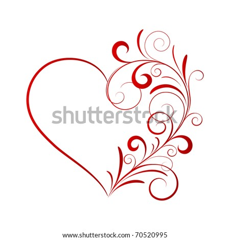 Abstract red heart. - stock vector