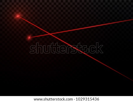 Abstract Red Laser Beam Transparent Isolated Stock Vector