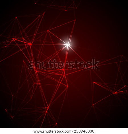 Abstract Red Laser Light | EPS10 Vector Background - stock vector