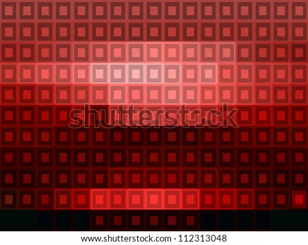 Abstract red mosaic