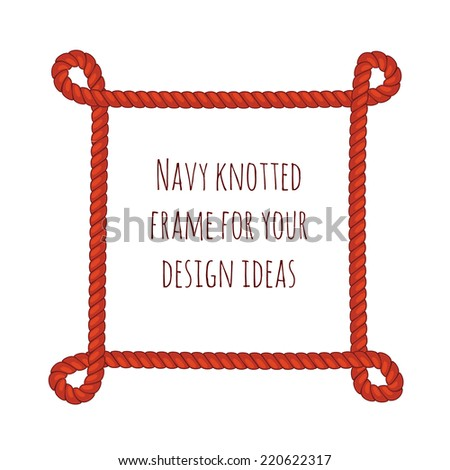 abstract red rope frame vector editable illustration