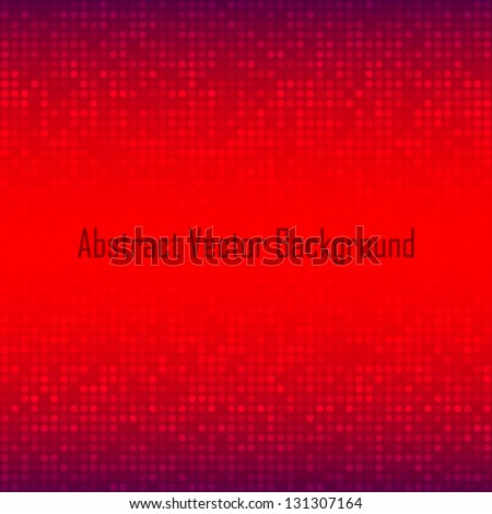 Abstract Red Technology Background, vector illustration - stock vector