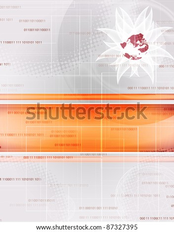 abstract red technology background with place for text - stock vector