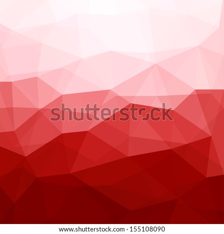 Abstract Red Triangle Geometrical Background, Vector Illustration EPS10 - stock vector