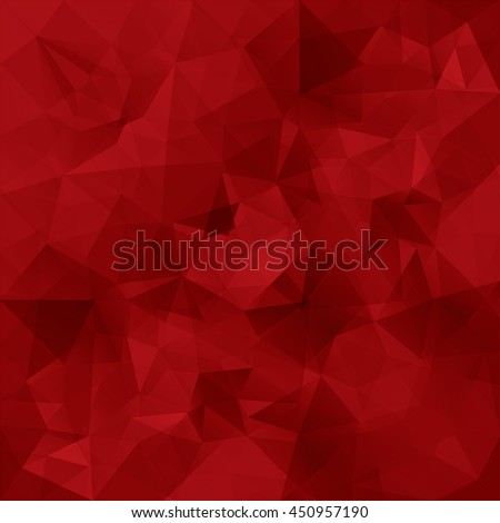 Abstract red triangles vector background. - stock vector